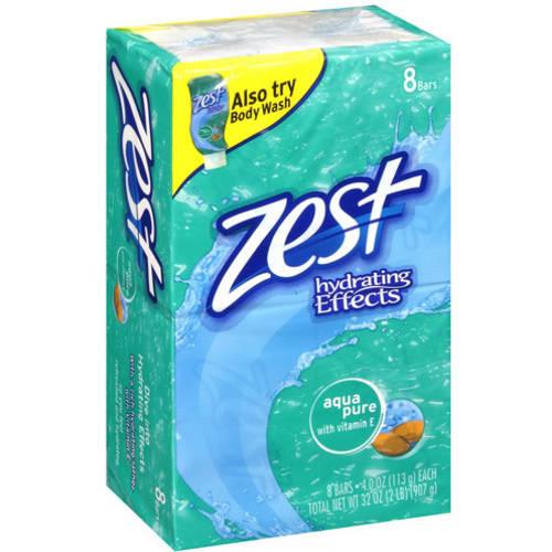 Zest Aqua Pure Scent Hydrating Effects Bar Soap, 32 oz