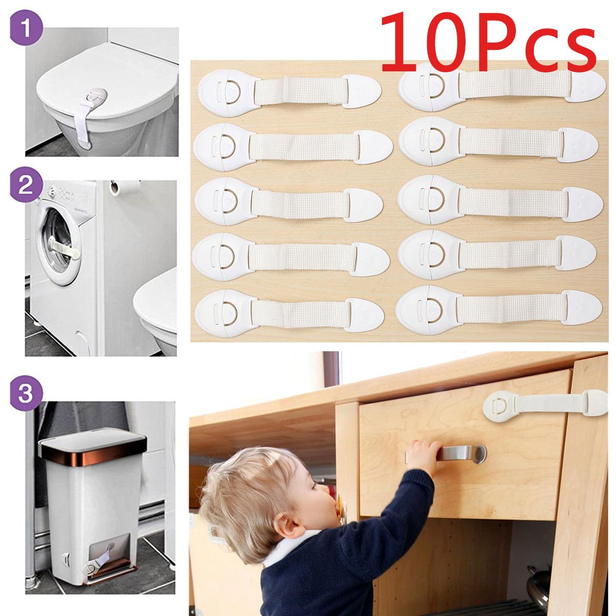 Baby Children Kids Pet Proof Cupboard Door Drawer freezer cabinet Safety Lock