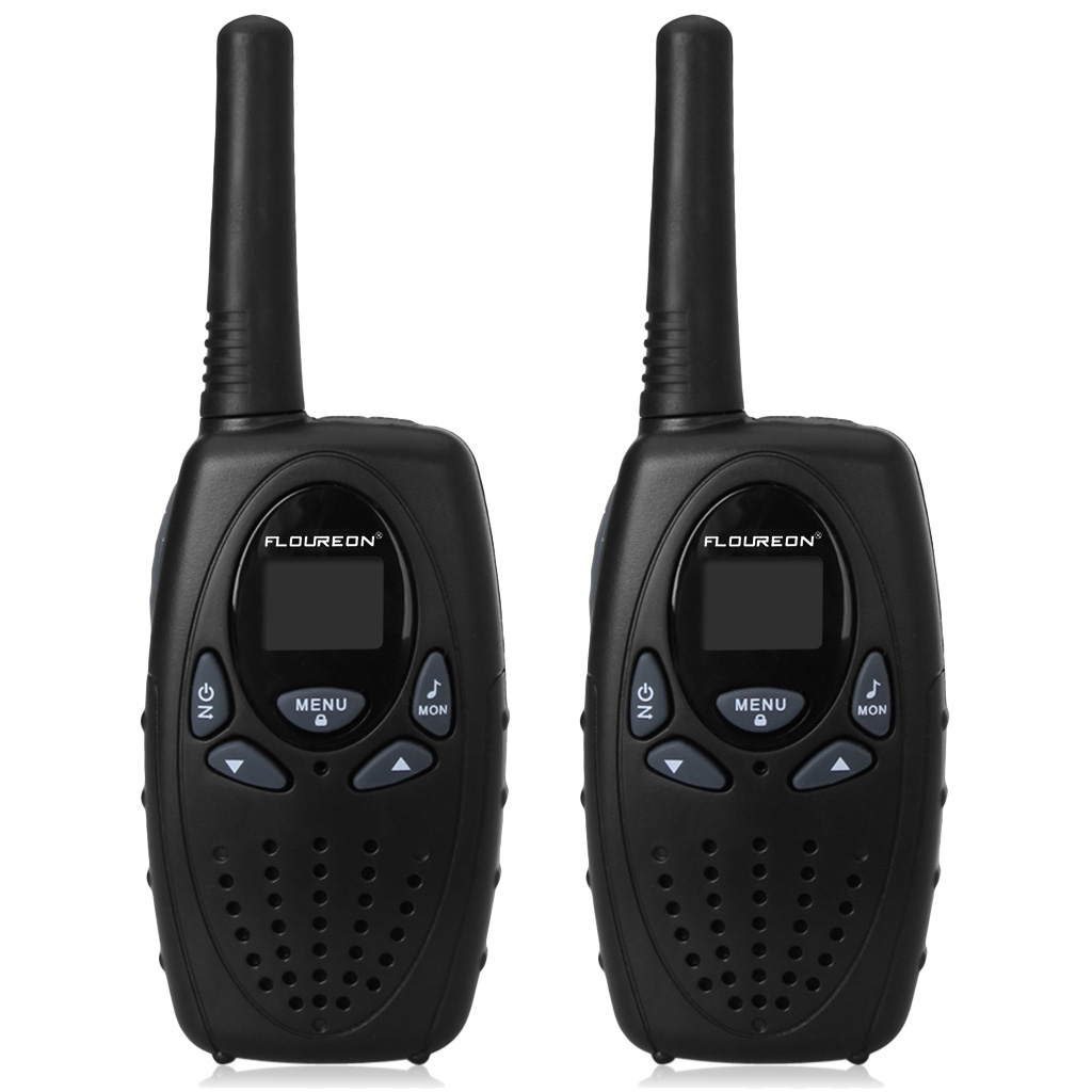 FLOUREON 2 Pack 22 Channel FRS/GMRS 2 Way Radios Up to 3000M/1.9MI Range (MAX 5000M/3.1MI) Handheld Walkie Talkies for Outdoor Adventure, Black