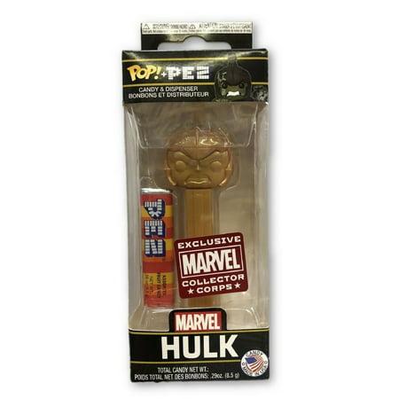 Funko POP Pez - Marvel Hulk Gold Exclusive - Dispenser ()