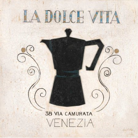 Dolce Vita Coffee - La Dolce Vita Coffee Poster Print by Arnie Fisk
