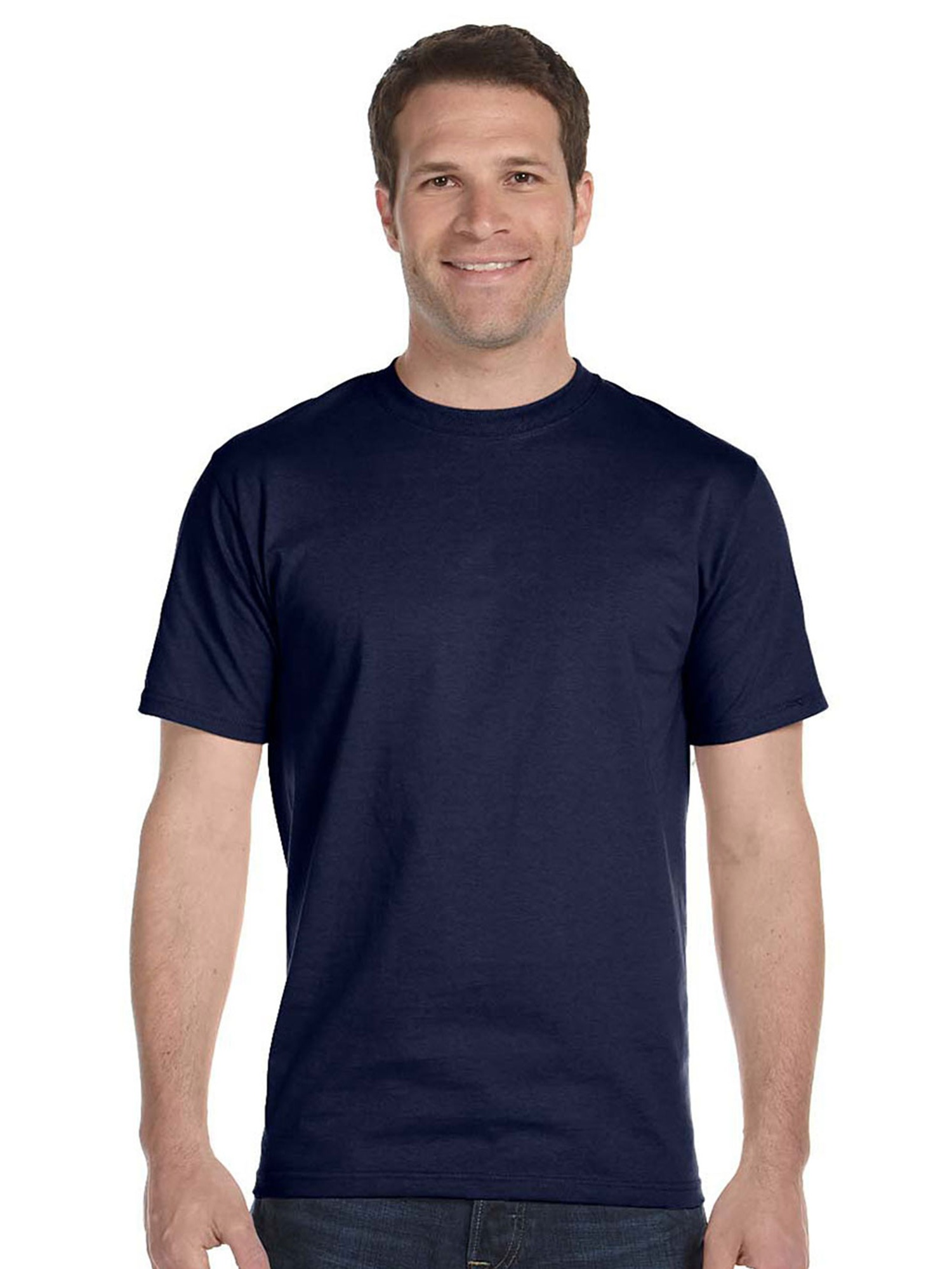 Hanes Men's Short Sleeve Crewneck Beefy Cotton T Shirt