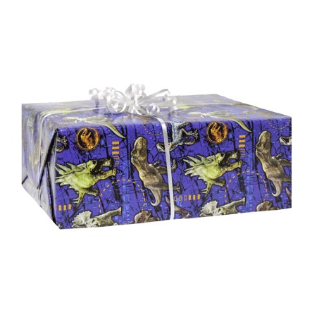 (3 pack) Jurassic World Wrapping Paper, 5 x 2.5 ft, 1ct