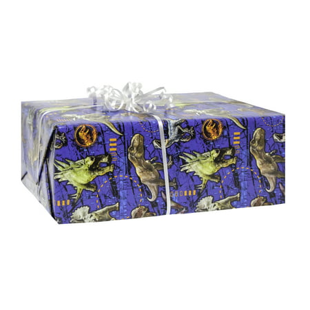 (3 pack) Jurassic World Wrapping Paper, 5 x 2.5 ft, - Halloween Gift Wrap