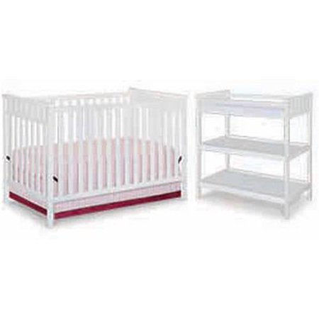 Delta children 3 stage convertible fixed side crib for Table 99 bethpage