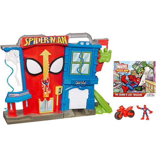 Marvel Spider-Man Adventures Playskool Heroes Electronic Spider-Man Stunt City Playset