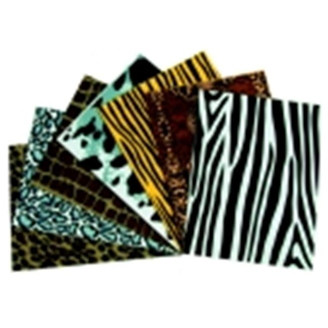Wonderfoam Non-Toxic Assorted Shape Animal Print Sheet, Pack - 10