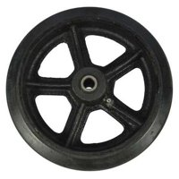 DAYTON MH4XKJ2A09G Wheel,Mold On Rubber,8 In