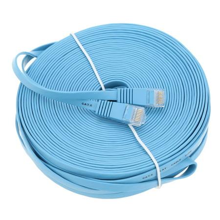 30m/98.42ft Blue High Speed Cat6 Ethernet Flat Cable RJ45 Computer LAN Internet Network