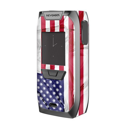 Skin Decal For Vaporesso Revenger Kit Vape   American Flag Pot Leaf Stars Marijuana