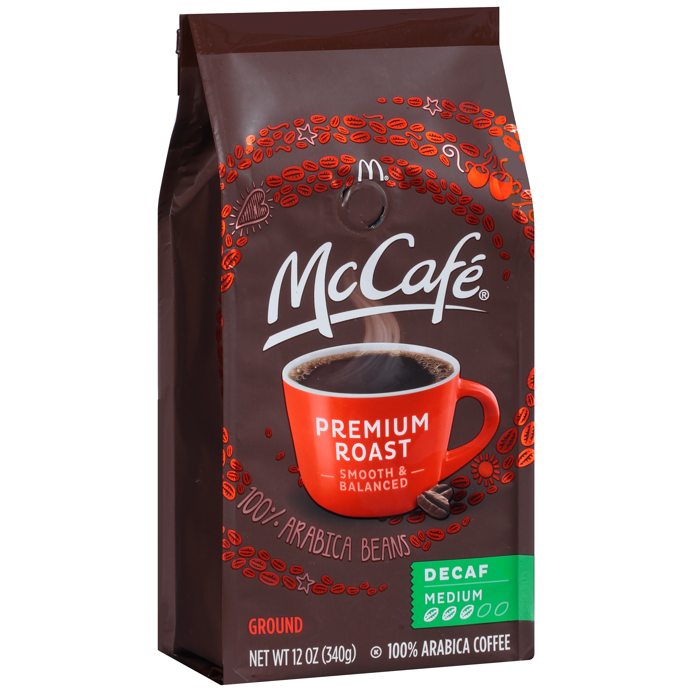 McCafe Premium Medium Roast Decaf Ground Coffee, 12 OZ (340g)