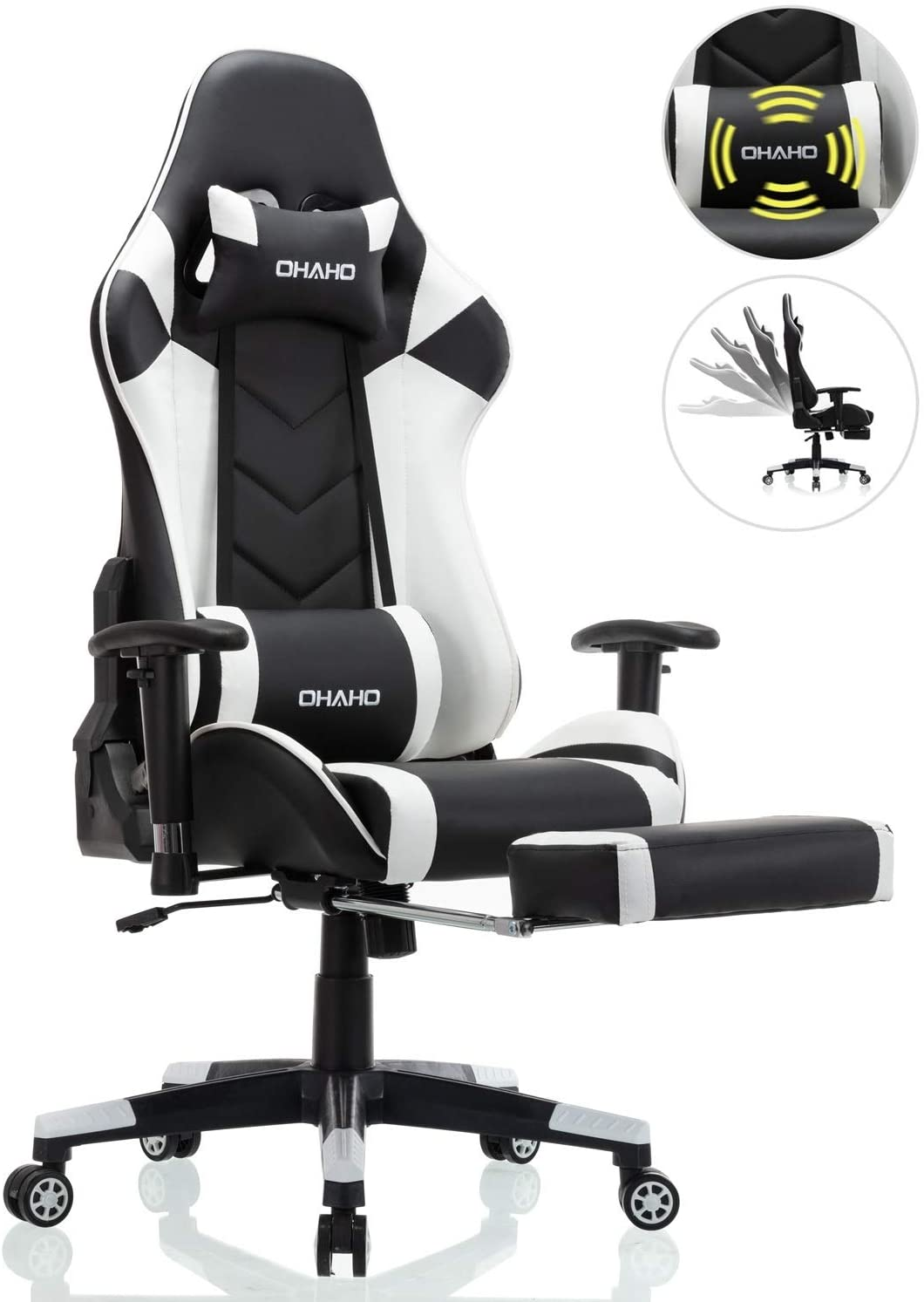 High Back Racing Gaming Chair Computer Desk Chair Adjustable Swivel Office Chair