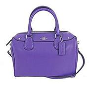 coach mini bennett satchel purple crossgrain leather f36624 by