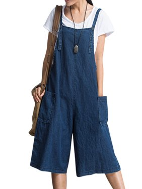 Womens Jumpsuits Strap Dungaree Overalls Harem Jeans