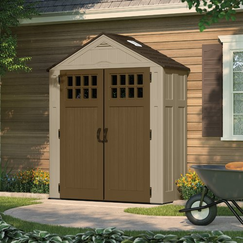 Suncast Everett 6 ft. 3 in. W x 2 ft. 9 in. D Plastic Tool Shed