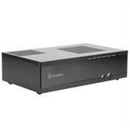 SilverStone Milo Series ML05B No Power Supply Mini-ITX HTPC Case -