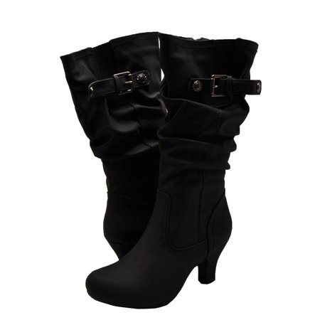 Calf Brandy - Blossom Women's Brand 39 Casual Mid Calf Buckle Boots