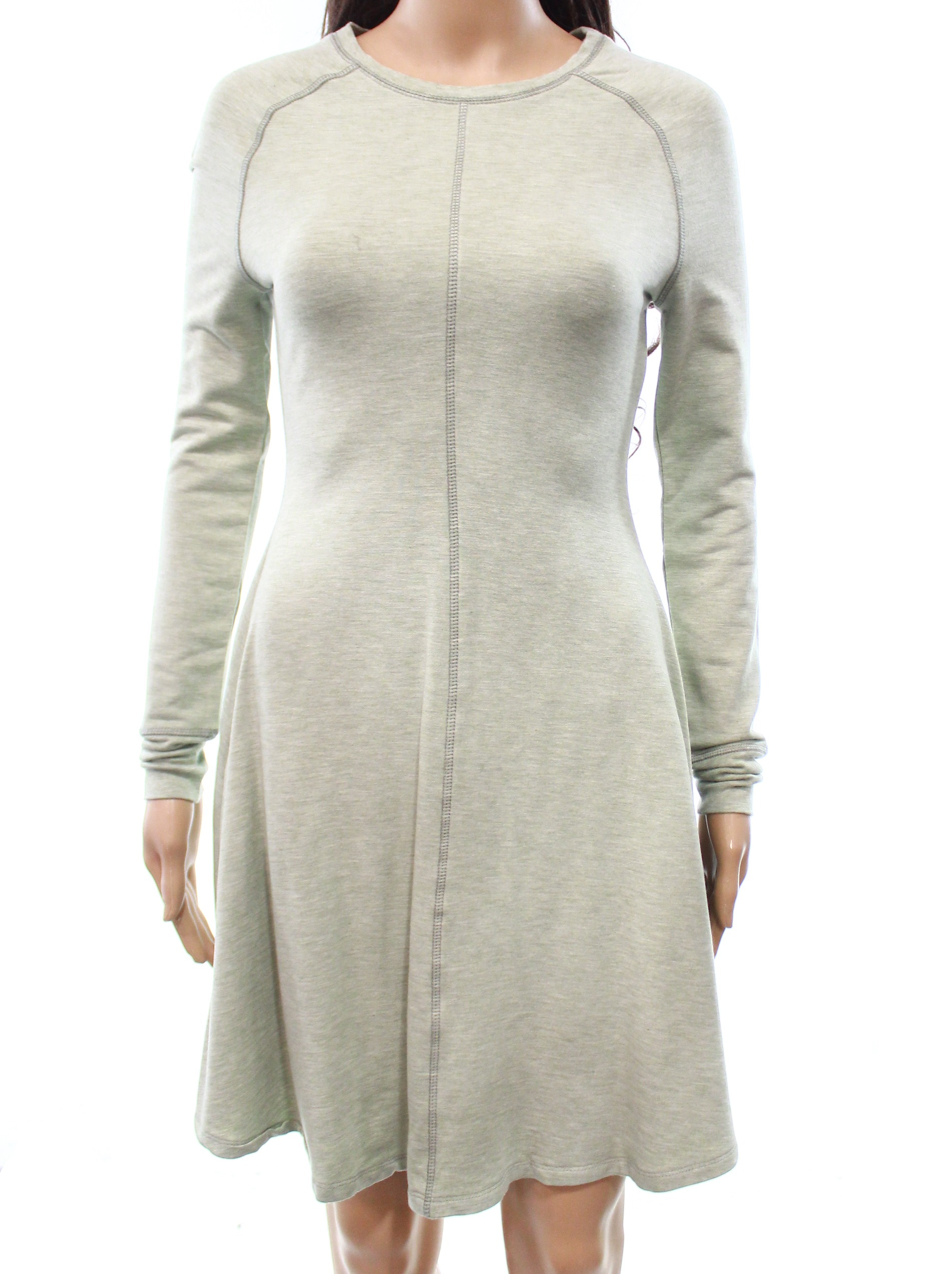 Philosophy NEW Green Women's Size Small S Contrast Stitch Sweater Dress
