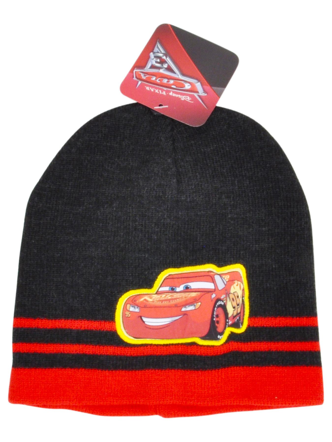 Boys Cars Movie Lightning McQueen Knit Cuffed Beanie Hat