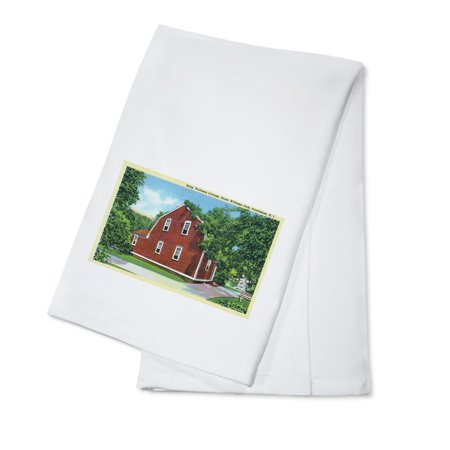 Providence, Rhode Island - Roger Williams Park View of Betsy Williams Cottage (100% Cotton Kitchen Towel) - Roger Williams Park Halloween