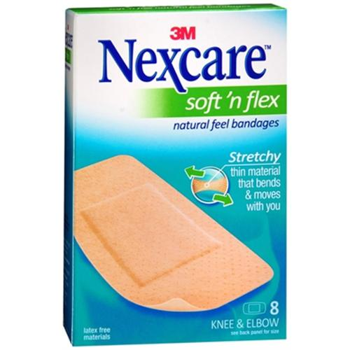 Nexcare Comfort Fabric Bandages Knee and Elbow 8 Each (Pack of 6)