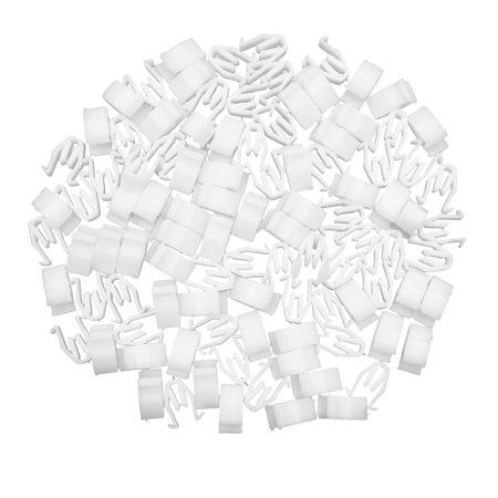 100pcs Universal White Car Console Retainer Auto Dashboard Instrument Clip - image 2 of 2