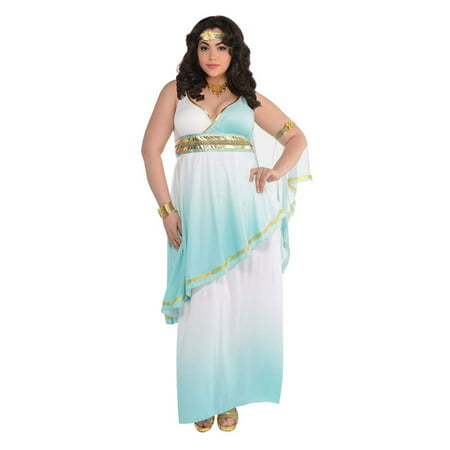 Grecian Goddess Women's Plus Halloween Costume (Roman Goddess Halloween Makeup)