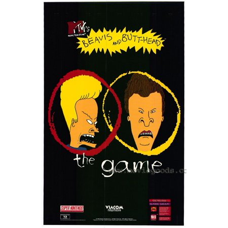 Beavis and Butthead Do America (1996) 11x17 Movie Poster - Beavis And Butthead Halloween Costume