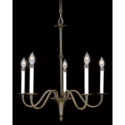 Framburg FR 9225 Williamsburg 5 Light Up Lighting Chandelier from the Early Amer