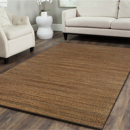 LR Home Natural Fiber Sahara 5 ft. x 7 ft. 9 in. Hand Woven / Hand Loomed with Jute & chenille in India Rustic Modern Abstract Solid Sonora Sahara Indoor Rectangle Area Rug (Sandra Rug)