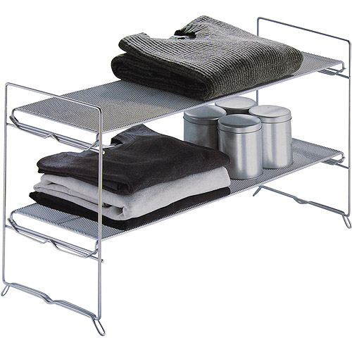 Neu Home Stackable 2 Tier Mesh Storage Rack
