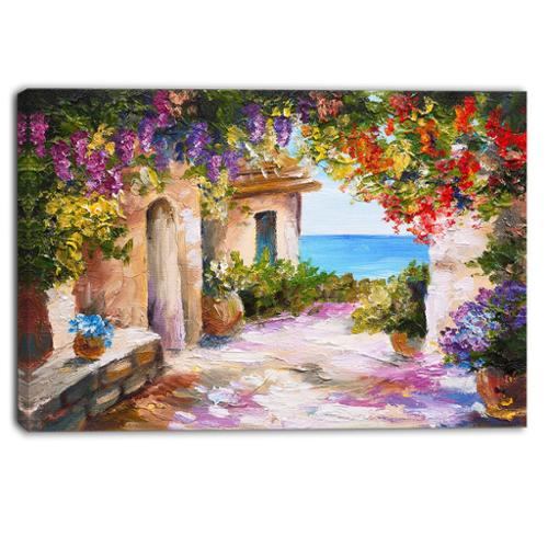 DESIGN ART Designart Summer Seascape Landscape Canvas Art Print Small by Overstock