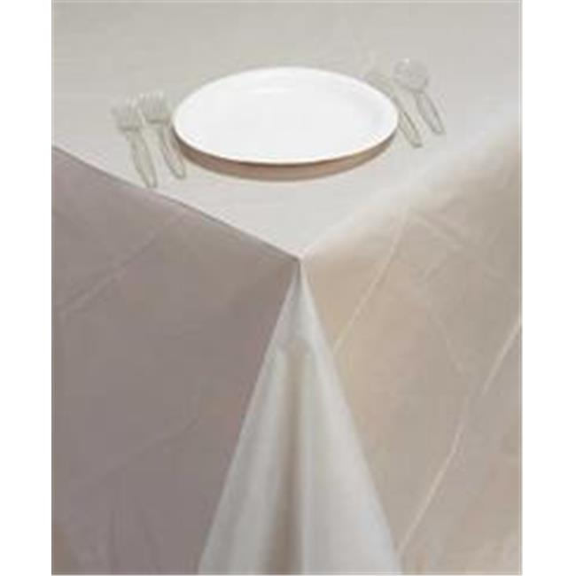 CPC B6090 60 x 90 in. Disposable Clear Plastic Table Cove...