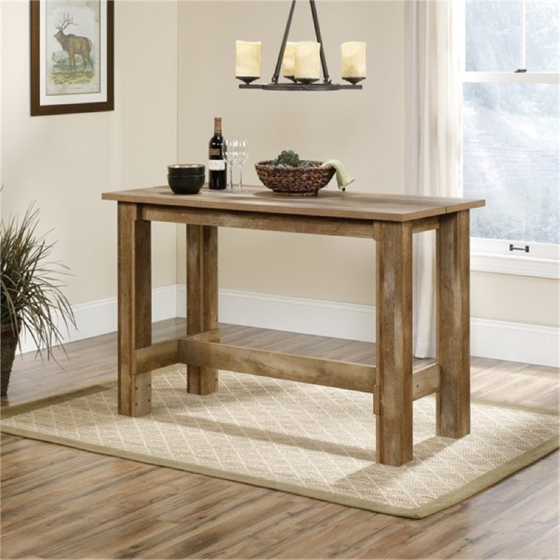 Bowery Hill Counter Height Dining Table in Craftsman Oak