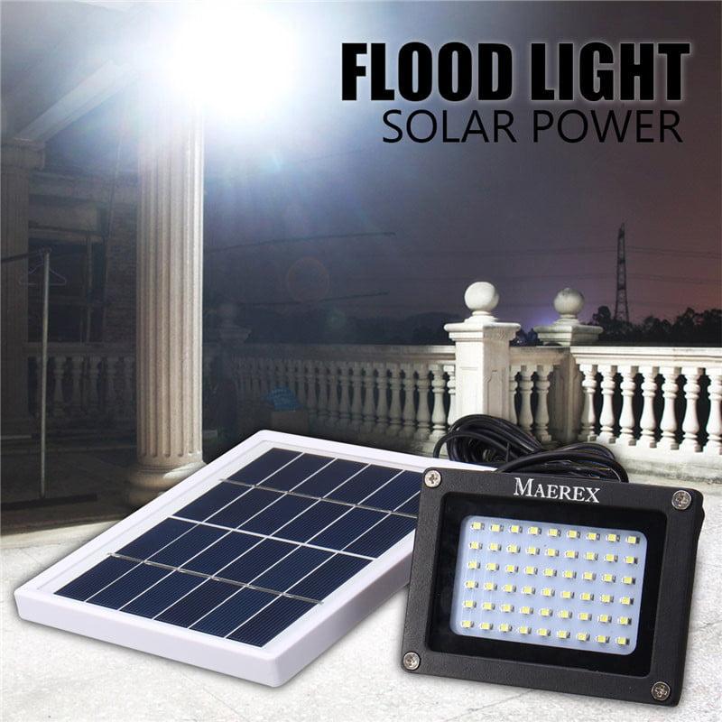Solar Powered 54 LED Dusk-to-Dawn Sensor Outdoor Security Floodlight Waterproof
