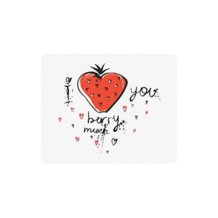 POPCreation I Love You Berry Much Mouse Pad Gaming Mousepad 9.84