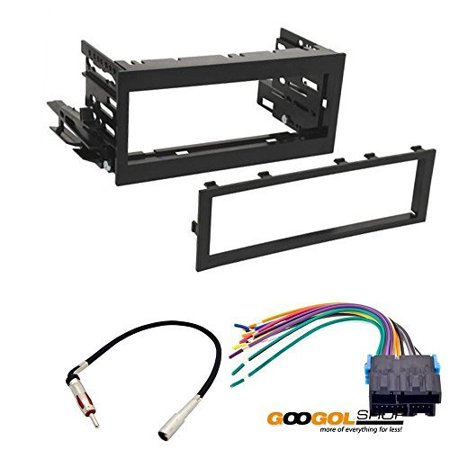 gmc 1995 - 1999 crew cab pickup car stereo dash install mounting kit wire harness