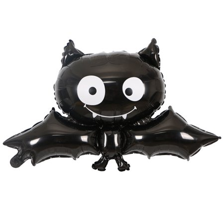 Black Vampire Bats Halloween Foil Balloon Reusable Party Supplies Balloons Home Party Bar Decoration Children Gifts Style:Black bat balloon (Decorate Bar For Halloween)