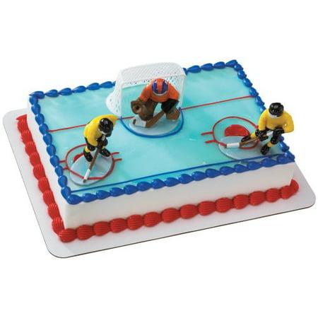 Hockey FaceOff DecoSet Cake Decoration](Hockey Decorations)
