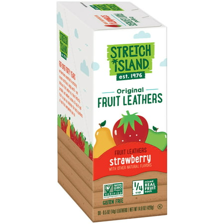 Stretch Island Fruit Leathers, Strawberry, 30 Ct