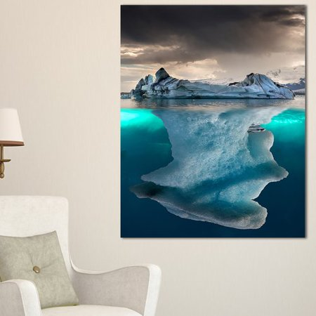 Design Art 'Large Iceberg in Sea' Photographic Print on Wrapped Canvas