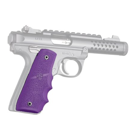 Hogue Ruger 22/45 MKIV Rubber Grip with Finger Grooves, Purple