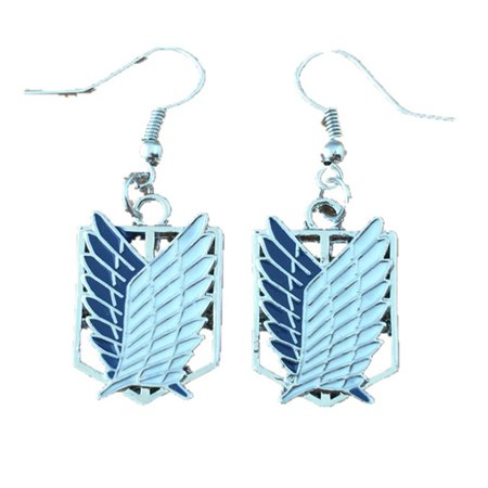 Dangle Earrings Attack On Titan Logo In Gift Box by - Tennessee Titans Dangle Earrings