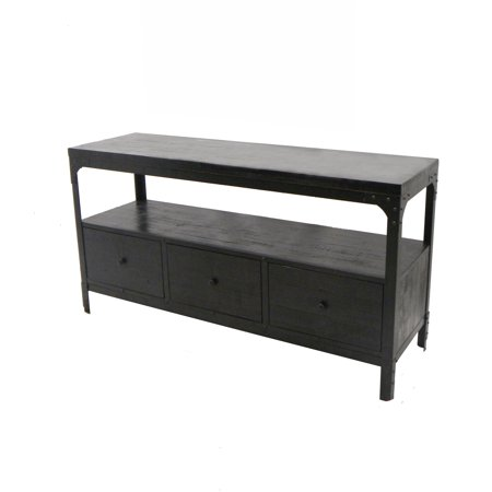 Michael Anthony Dark Cherry Reclaimed Wood Media Console