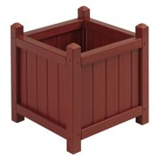 16 in. All Weather Composite Crown Short Planter