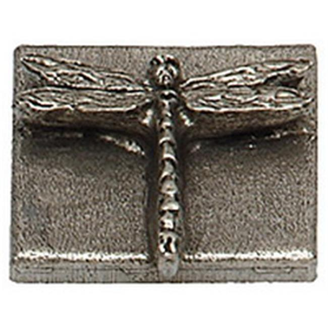 Premier Hardware Designs PHDT-2-NP Shiny Pewter Dragon Tile, 2 x 2 Inch