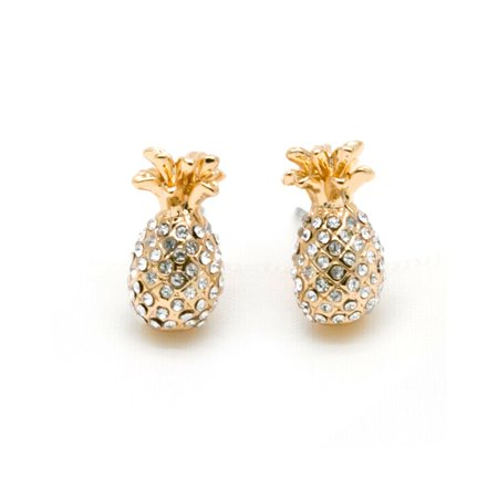 Pave Spade (KATE SPADE NEW YORK By The Pool Pave Pineapple Studs Earring in Gold )
