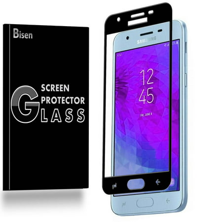 [2-Pack] Samsung Galaxy Express Prime 3 (2018 Release) BISEN Tempered Glass Screen Protector [Full Coverage, Edge-To-Edge Protect], Anti-Scratch, Anti-Shock, Shatterproof, Bubble (Free Glasses Uk)