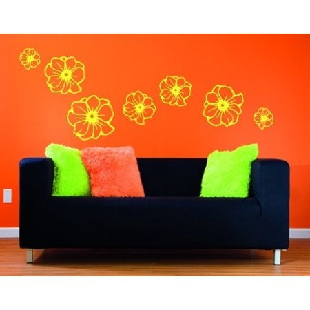 Flowers Wall Decal Wall Sticker Vinyl Wall Art Home Decor Wall Mural 2