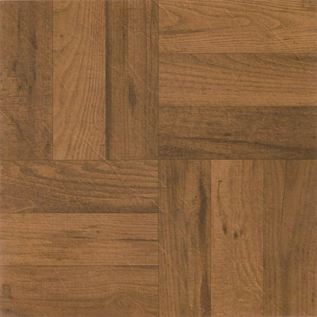 Achim Nexus Oak Parquet 12x12 Self Adhesive Vinyl Floor Tile - 20 Tiles/20 sq. -